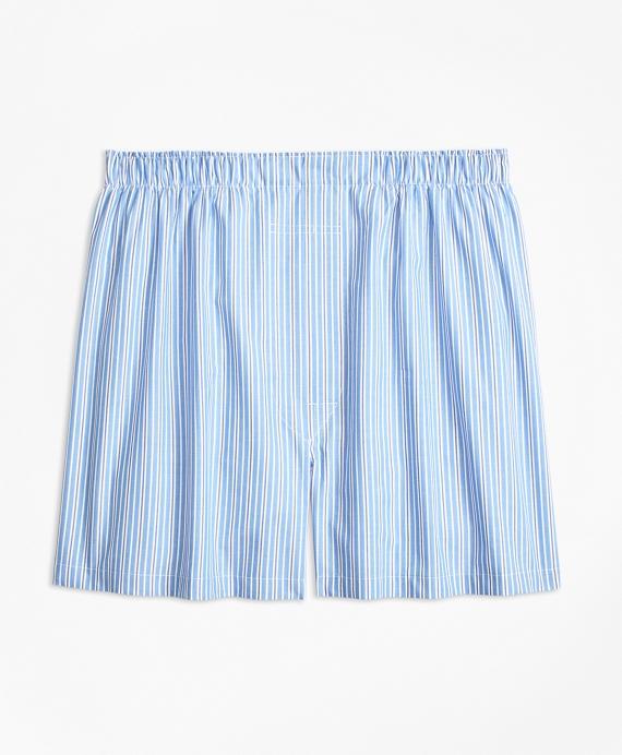 Traditional Fit Split Stripe Boxers Blue