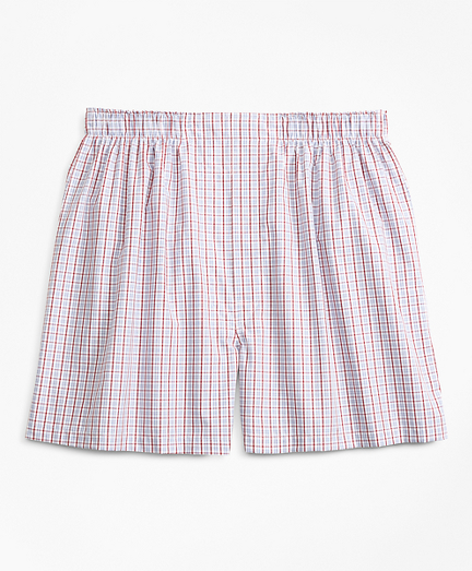 Traditional Fit Alternating Check Boxers