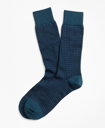 Houndstooth Crew Socks