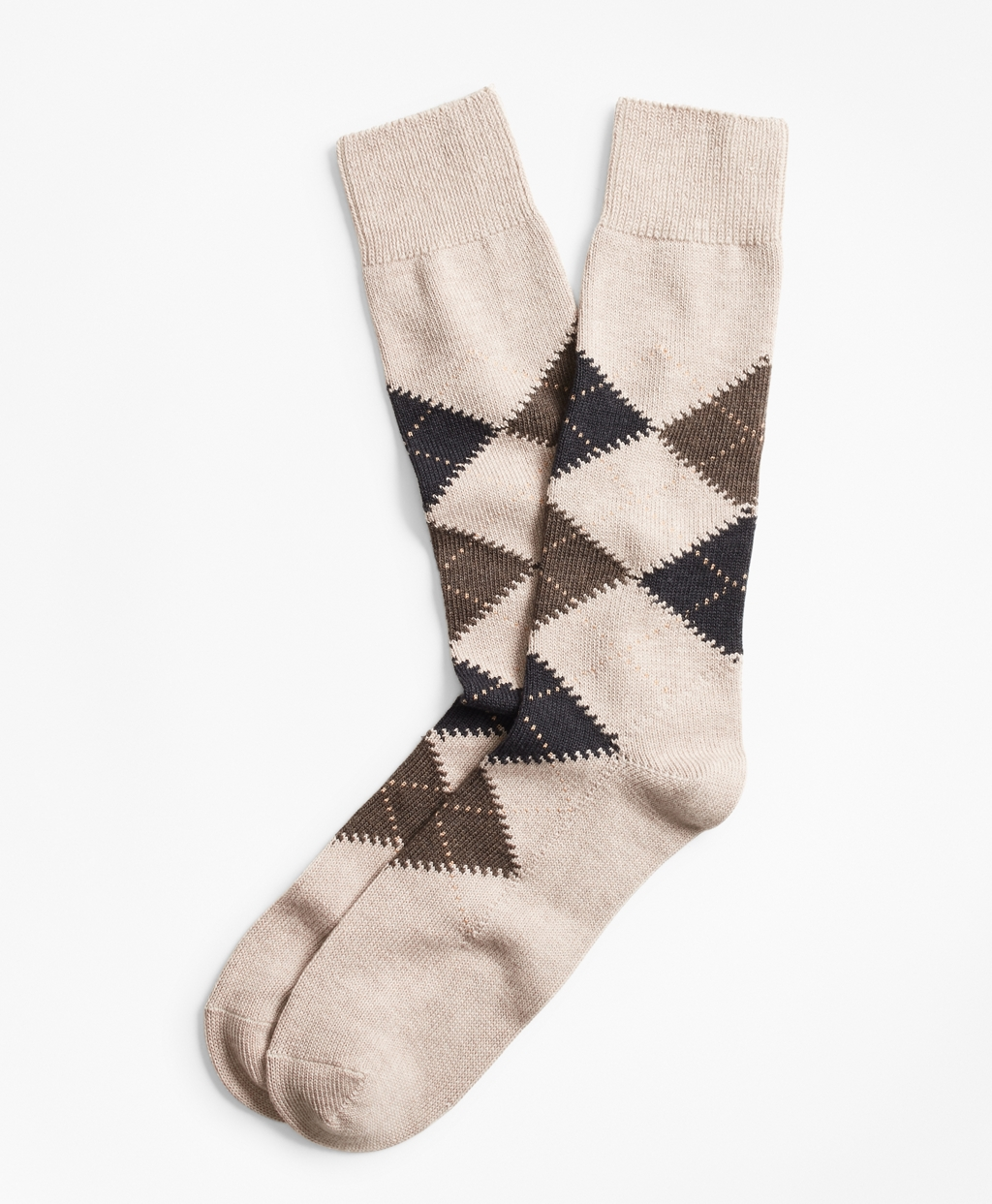 Vintage Men's Socks History-1900 to 1960s Brooks Brothers Mens Argyle Crew Socks $24.50 AT vintagedancer.com