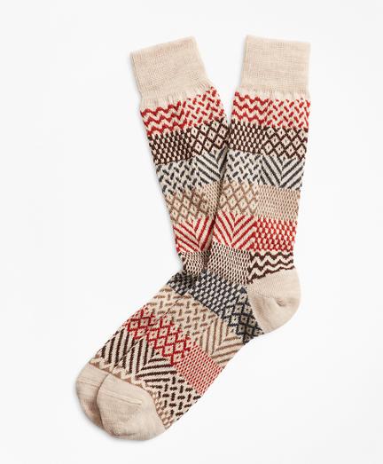 Multi-Patchwork Crew Socks