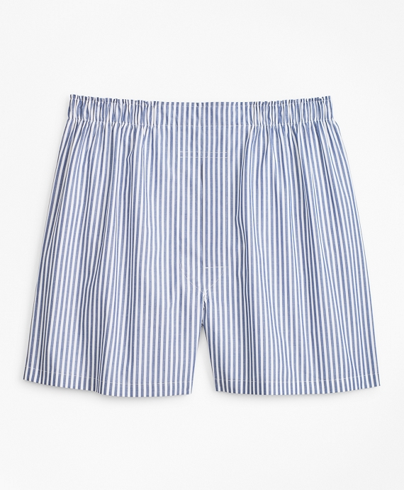 Traditional Fit Bold Stripe Boxers Blue