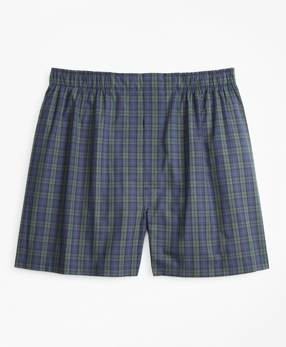 Traditional Fit Black Watch Tartan Boxers Navy-Green