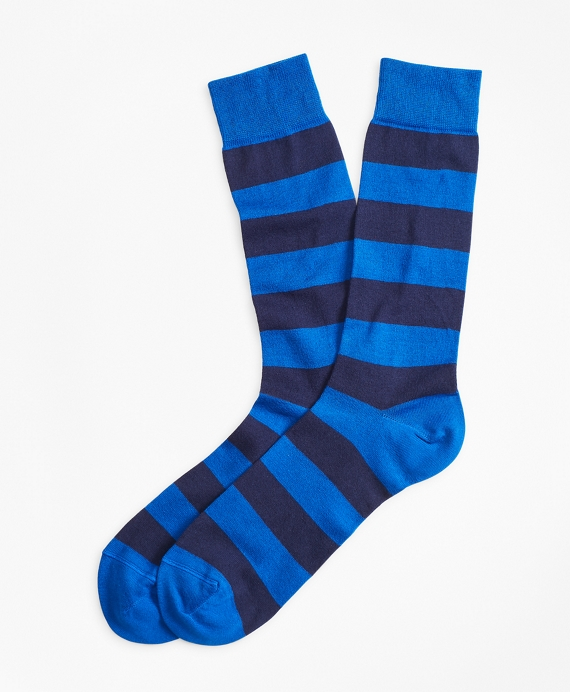 Stripe Crew Socks Blue-Navy