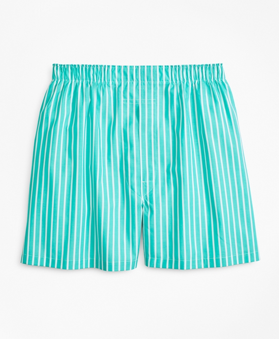 Traditional Fit Bold Stripe Boxers Green