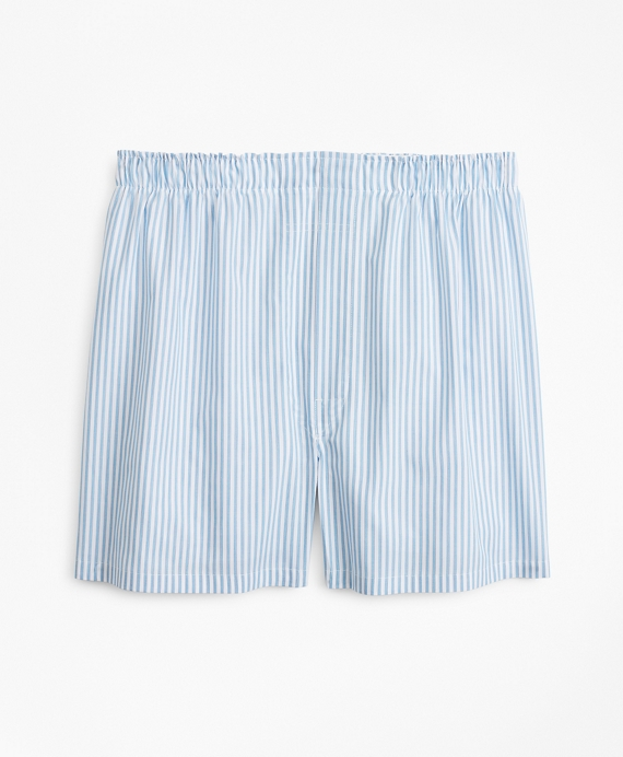 Traditional Fit Framed Stripe Boxers Blue