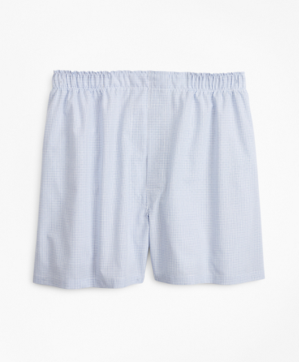 Traditional Fit Grid Check Boxers