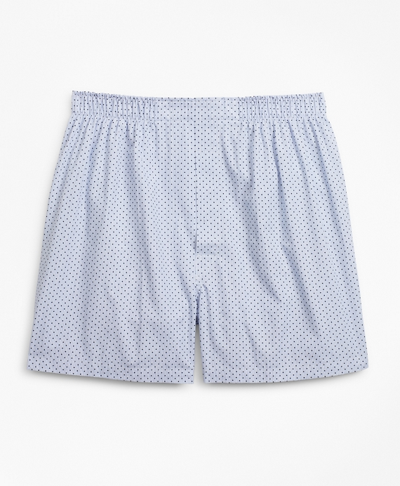 Traditional Fit Dot Boxers Blue