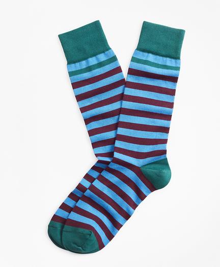 brooks brothers crew stripe dress socks