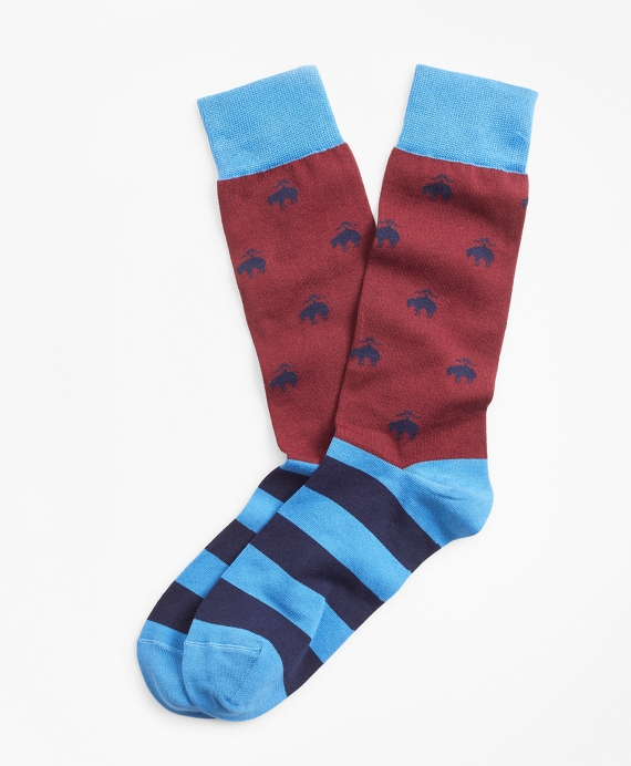 Golden Fleece® and Stripe Crew Socks Fig