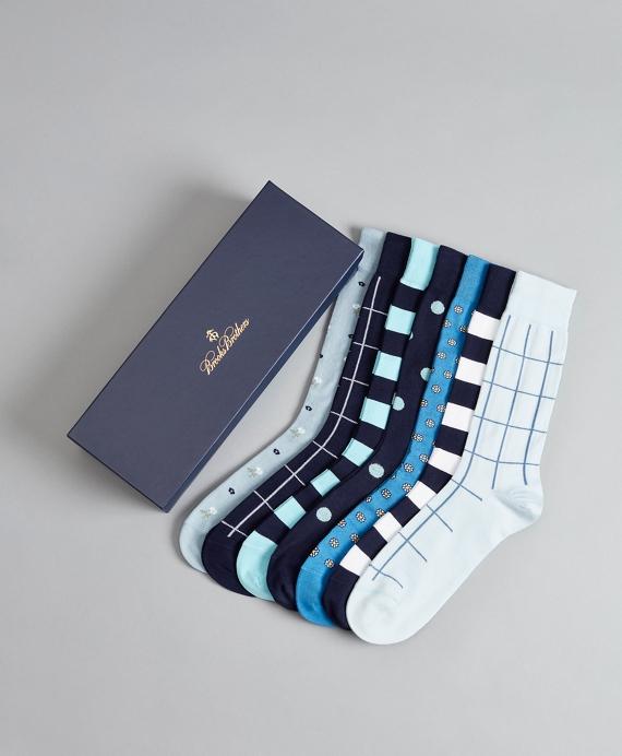 The Blues - Seven-Pair Socks Gift Set Blue