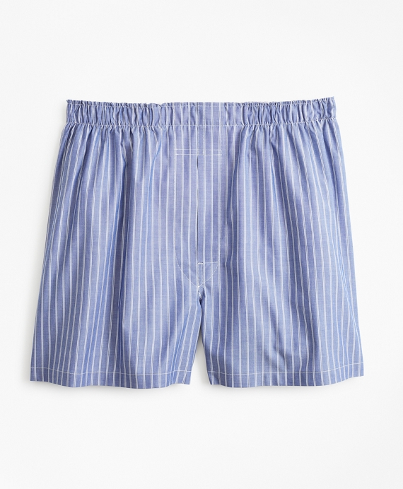Traditional Fit Thin Stripe Boxers Blue