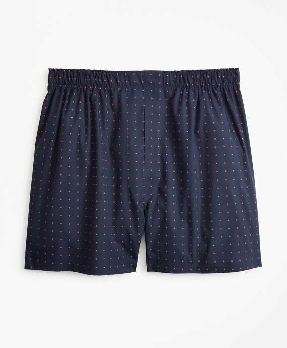 Traditional Fit Polka Dot Boxers Navy