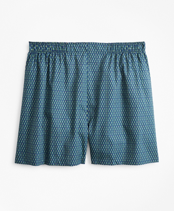 Traditional Fit Christmas Tree Boxers Navy