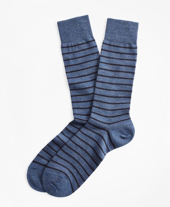 Thin Stripe Crew Socks Blue