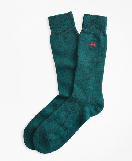 Cashmere Crew Socks with Fleece Logo