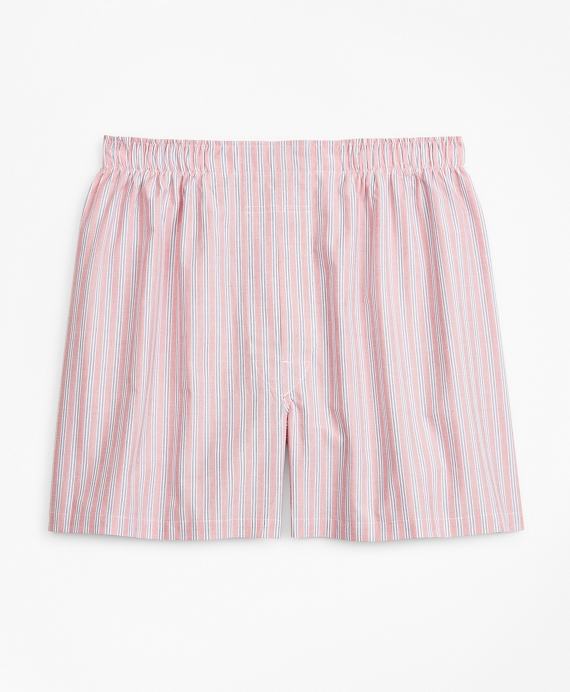 Traditional Fit Stripe Boxers Red