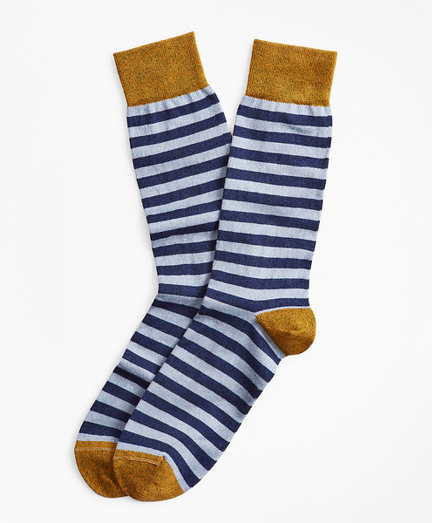 Heathered Stripe Crew Socks