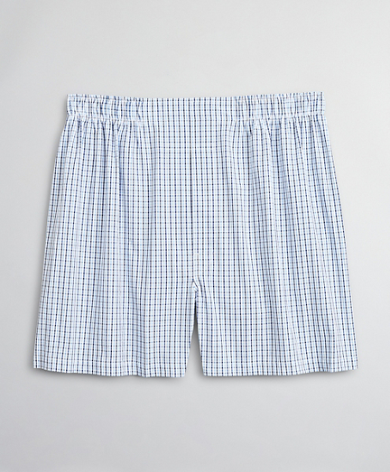 Traditional Fit Seersucker Plaid Boxers