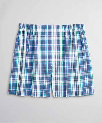 Traditional Fit Seersucker Large Plaid Boxers