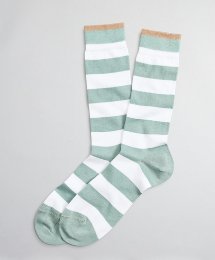 Wide Stripe Crew Socks
