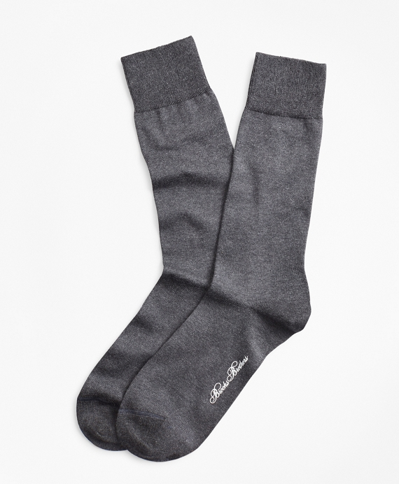 Egyptian Cotton Crew Socks Charcoal