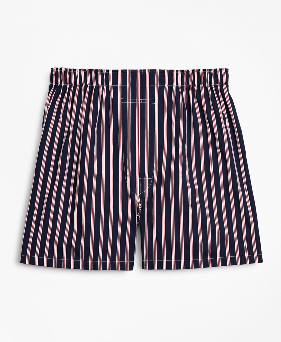 Traditional Fit BB#1 Rep Stripe Boxers Navy