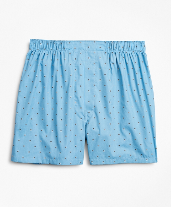 Traditional Fit Foulard Boxers Light Blue