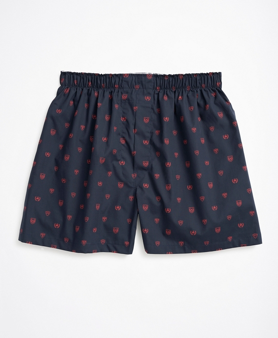Brooks Brothers Crest Boxers Navy