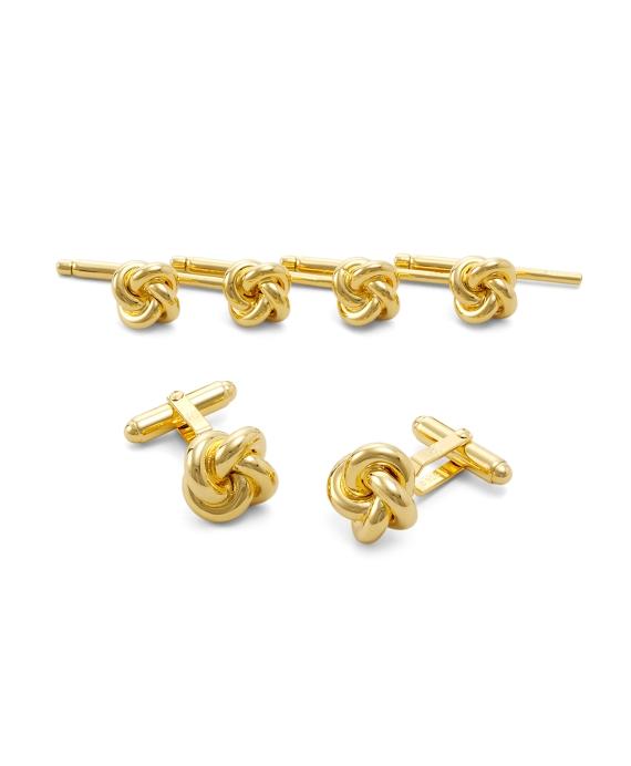 Sterling Oversized Knot Stud Set Gold