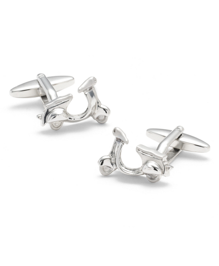 Sterling Scooter Cuff Links