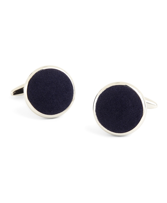 Velvet Cuff Links Navy