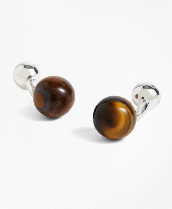 Tiger's Eye Cuff Links Tigers Eye