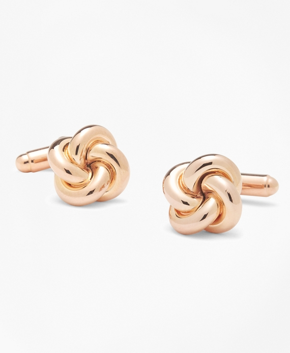 Oversized Love Knot Cuff Links Rose Gold