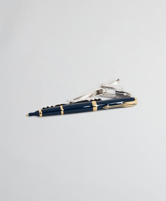 Pen Tie Bar Navy