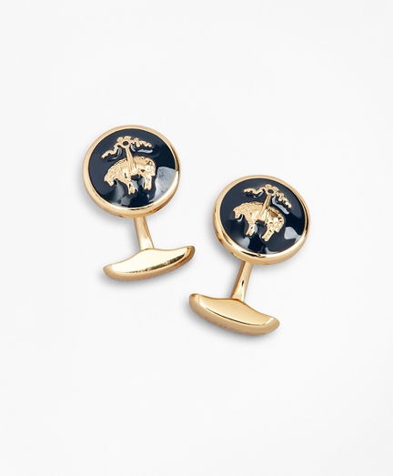 Fleece Enamel Cuff Links