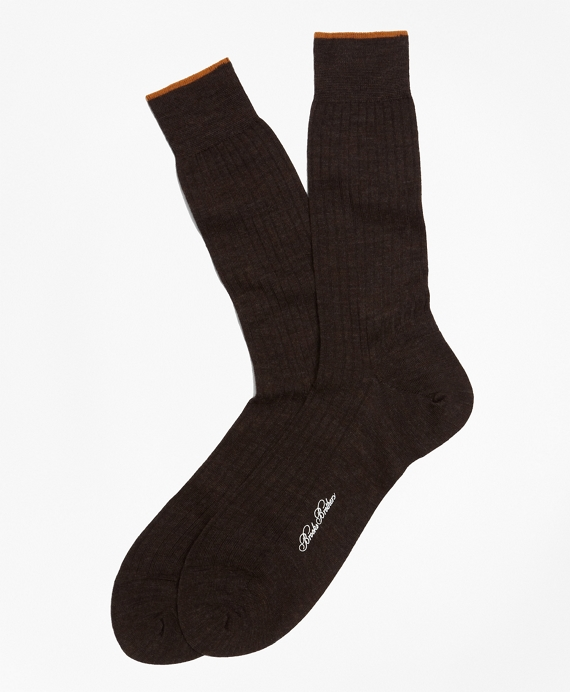 Merino Wool Golden Fleece® Sized Crew Socks Brown