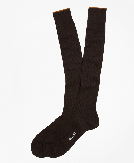 Merino Wool Golden Fleece® Sized Over-the-Calf Socks Brown