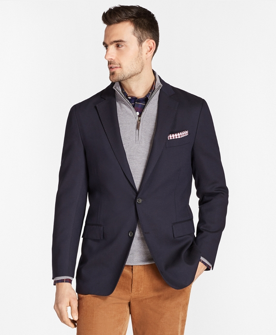 Regent Fit Two-Button Blazer Navy