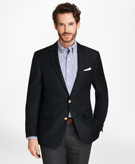 Country Club Regent Fit Saxxon™ Wool Two-Button Blazer