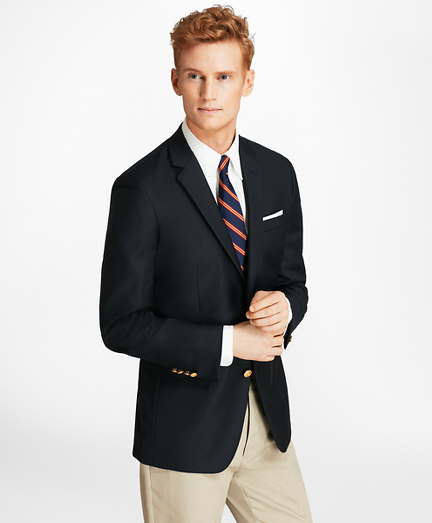 Country Club Milano Fit Saxxon™ Wool Two-Button Blazer