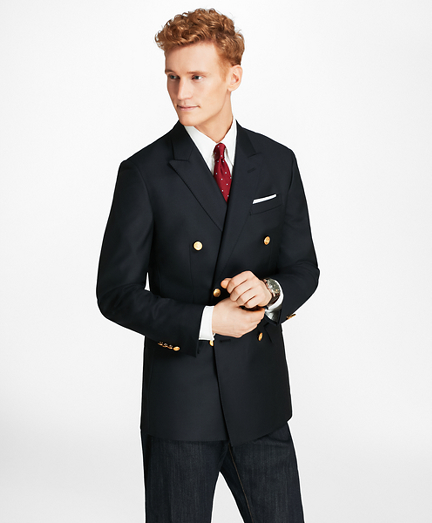Country Club Milano Fit Saxxon™ Wool Double-Breasted Blazer
