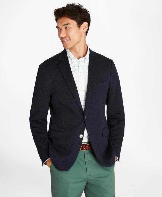 Regent Fit Two-Button Knit Blazer Navy