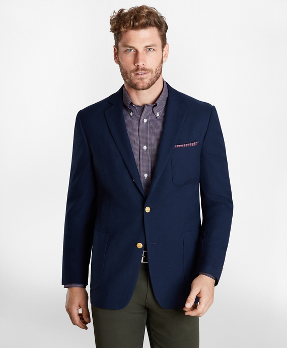 Regent Fit Three-Button Blazer Navy