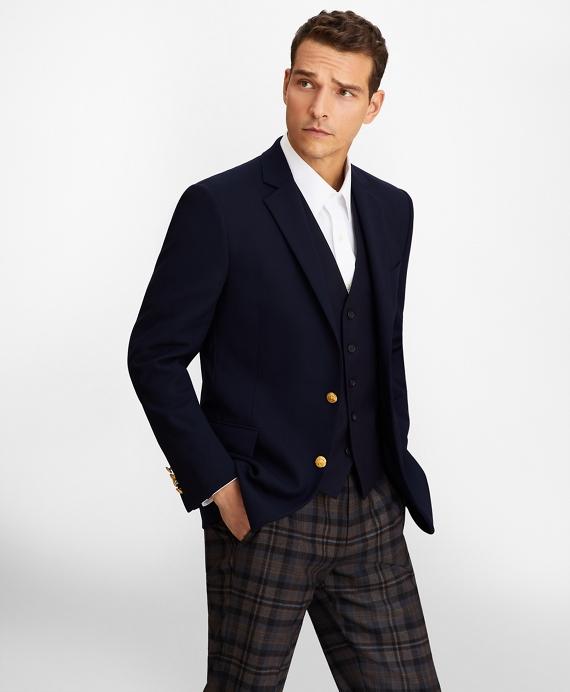 Regent Fit Two-Button Blazer Navy