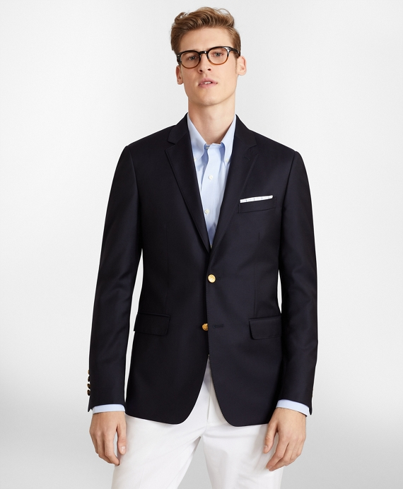 Milano Fit Two-Button Blazer Dark Navy