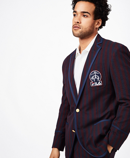 Brooks Brothers x FILA Striped Seersucker Newport Blazer