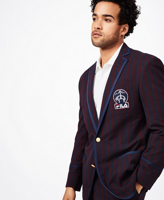 Brooks Brothers x FILA Striped Seersucker Newport Blazer Multi