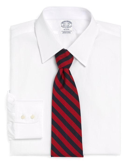 Regent Fitted Dress Shirt, Tennis Collar White