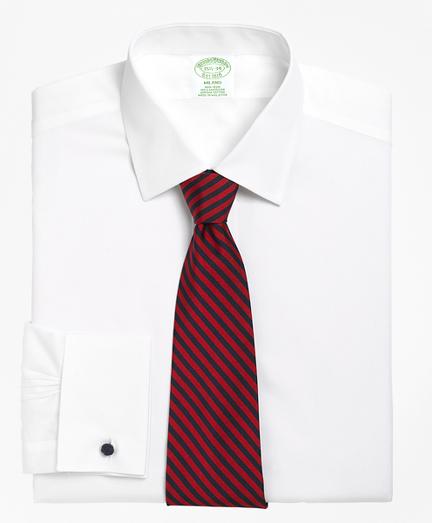 Milano Slim-Fit Dress Shirt, Non-Iron Spread Collar French Cuff